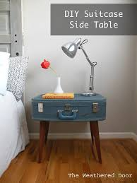 Vintage DIY Suitcase Nightstand Ideas | https://diyprojects.com/17-