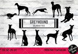 Greyhound Dog Silhouette Vector