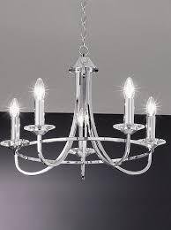 carousel 5 arm ceiling light in chrome fl2146 5