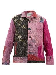 By Walid Designer Jono Embroidered Chinese Silk Jacket By Walid