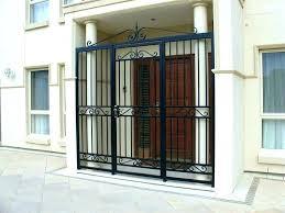 front door gate. Metal Security Front Door Gates Patio Gate Rare .
