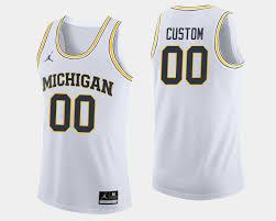 Wolverines White Jersey Men's College Custom Michigan Basketball NFL Week 6 Point Spread Picks