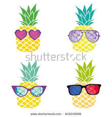 pineapple with sunglasses clipart. pineapple glasses set - vector illustration with sunglasses clipart t