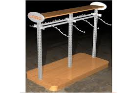 Display Stands For Pictures Multi Funcutional Metal Garments Gondola Display Stands MFD 69