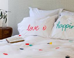 Screen Printing Designs For Bed Sheets Hand Screen Printed Organic Bed Linen Feliz Home Linen