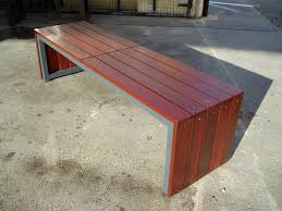 outdoor furniture bench timber steel heavy duty