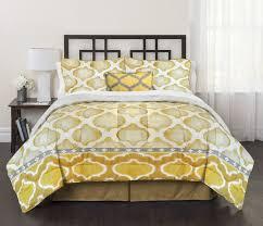 mid century modern design bedding 4 pc comforter set mustard color