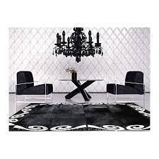 patchwork cowhide rug k 155 art 1 black silver
