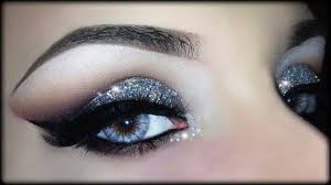 y cut crease 3d silver glitter elegant makeup tutorial trucco natale 2016 you