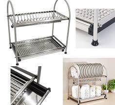 Plate Storage Rack Kitchen Kitchen Modern Kitchen Drying Racks For Storage Stainless Steel