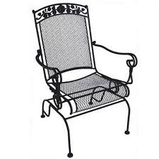 wrought iron rocking patio furniture designs