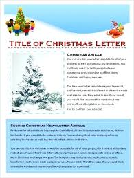 9 Holiday Newsletter Templates Free Word Documents Download
