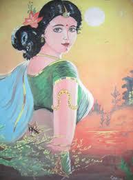 Indian Girl paintings