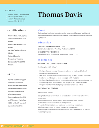 teaching resume sample resume samples for teachers in word format teacher professional resume format 2017 resume format 2017
