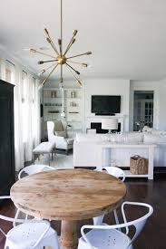 White Living Room Neutral Rustic Pedestal Table Sputnik White - Modern rustic dining roomodern style living room furniture