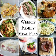 Family Meal Plans Weekly Family Meal Plan Week 139 Little Dairy On The Prairie