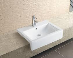 stratos large semi recessed basin basins splashdirect pertaining to bathroom sink prepare 3