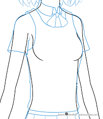 How To Draw Girl Shirts How To Draw An Anime School Girl In 6 Steps Animeoutline