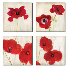 beautiful bright red california poppies four x i on metal wall art red silver decor hom on bright poppies metal wall art with beautiful bright red california poppies four x i on metal wall art