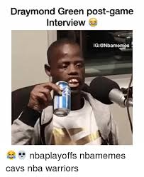 Post-game Green Draymond Ig Interview Bamemes