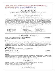 Child Care Resume Skills 11 Child Care Sample Resume Best Riez