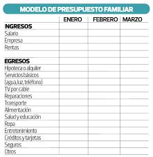 Como Hacer Un Presupuesto Familiar Para Controlar Sus Gastos Usted Debe Elaborar Un Presupuesto
