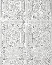 Bolcom Wit Behang Reliëf Behang Edem 101 00 Voor Muur En Plafond