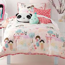 oriental panda toddler bedding and cushion cover 100 cotton
