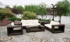 high end garden furniture. patio dark brown and white rectangle modern rattan set for sale laminated design high end garden furniture