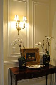 Small Picture beautiful setting featuring classic wall panels and cast brass