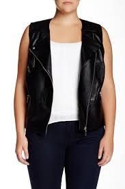 image of mynt 1792 faux leather vest plus size