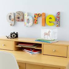 wall decor letters kids hanging land