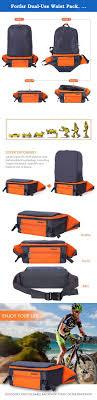 Forfar Dual-Use Waist Pack, Lightweight Foldable Backpack, Multi ...
