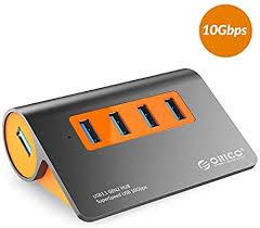 <b>ORICO 4</b> Ports Powered USB 3.1 Gen2 Hub Aluminum Data Hub 10 ...