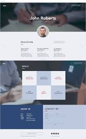 resume web templates 7 polished resume website templates for all professionals