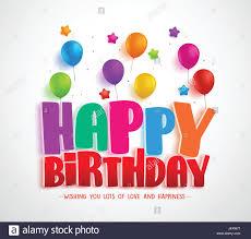 Balloon Birthday Card Design Happy Birthday Vector Greeting Card Design For Invitations