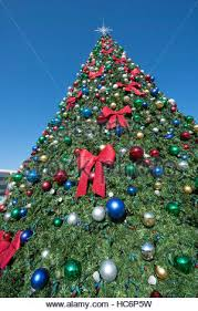 Christmas tree decorated at town of Christmas Florida where the ...
