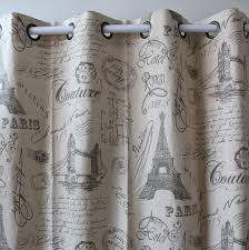 Printed Curtains Living Room Aliexpresscom Buy Vezo Home Print Eiffel Tower Letter Cotton