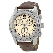 mens tissot watches tissot v8 steel chronograph brown mens watch t36 1 316 72
