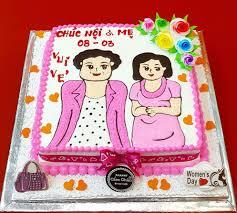 Bánh kem tặng bà tặng mẹ tặng vợ quà tặng 8/3 quà tặng 20/10 AD181063 - Bánh  Kem Cẩm Châu - Bánh Kem Cẩm Châu