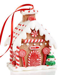 Candy Cane House Decorations Holiday Lane Candy Cane Gingerbread House Ornament Created for 75