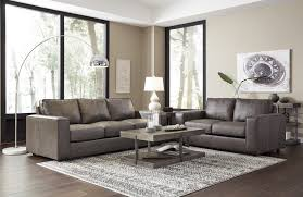 trembolt smoke leather sofa and loveseat