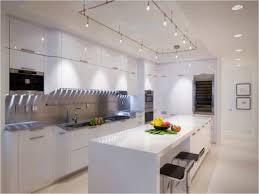 track lighting white. Kitchen Island Track Lighting Ideas With White Backsplash