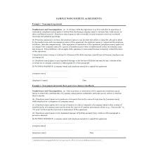 Non Disclosure Compete Agreement Template Free Business Templates ...