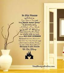 in this house we do wall decal with mickey mouse castle wall es wall vinyl decal family wall decals