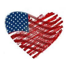 american flag heart ilration plain