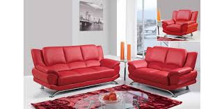 Images Of Modern Furniture Extraordinary U48 R Modern Leather Sofa Set Red Global Furniture 48PC