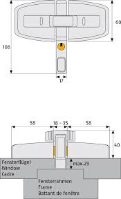 abus double window lock dfs95 310102001000 technical drawing