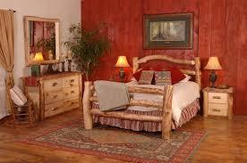 chic bedroom furniture log headboard queen log cabin bedding sets