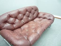 vintage leather sofa by johann bertil